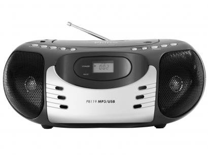 Rádio Portátil FM com CD/MP3 Player - Entrada USB - PB119 Philco