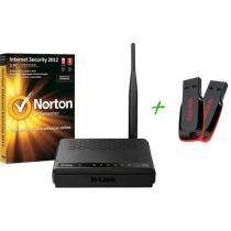 Antivírus Norton + Roteador Wireless 150 D-Link