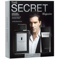 Antonio Banderas Kit The Secret Magazine Perfume - Masculino Eau de Toilette 100ml + Loção pós Barba