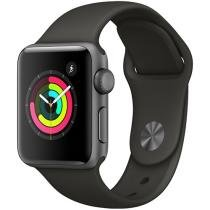 Apple Watch Series 3 38mm Alumínio 8GB Esportiva - Cinza GPS Integrado Bluetooth Resistente a Água