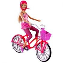 Barbie Real Bicicleta com Boneca