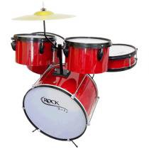 Bateria Infantil Rock Baby 2 Tons Vermelha - Rock Baby - Outras Marcas