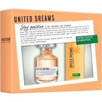 Benetton United Dreams Stay Positive Perfume - Feminino Eau de Toilette 80ml + Desodorante 150ml