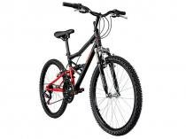 Bicicleta Caloi Shok Aro 24 21 Marchas - Full Suspension Freio V-brake