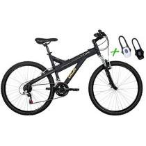 Bicicleta Caloi T-Type Mountain Bike Aro 26 - 21 Marchas Freio V-Brake + Lanterna Duo LED