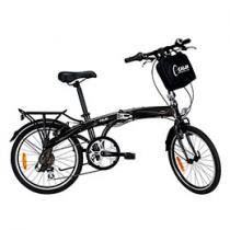 Bicicleta Caloi Urbe Dobrvel Grafite Aro 20 7Vel