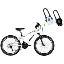 Bicicleta Caloi Wild Mountain Bike Aro 24 - 21 Marchas + Lanterna Duo LED