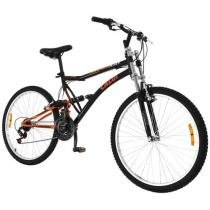 Bicicleta Caloi XRT Mountain Bike Aro 26 - 21 Marchas Full Suspension Freio V-brake