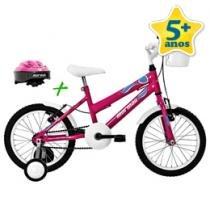 Bicicleta Sweet Girl com Capacete Aro 16