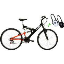 Bicicleta Verden Radikale Aro 26 18 Marchas - Full Suspension Freio V-brake + Lanterna Duo LED