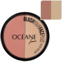 Blush Bicolor Your Face Plus Cor Peach -White Pink - Océane