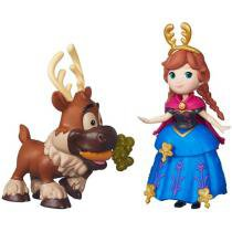 Boneca Disney Frozen Little Kingdom Anna e Sven - Hasbro