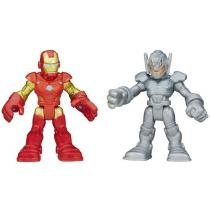 Boneco Homem de Ferro e Ultron Playskool Marvel - Super Hero Adventures Hasbro