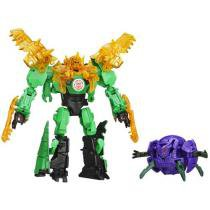 Boneco Transformers Robots in Disguise - Grimlock e Decepticon Back Hasbro
