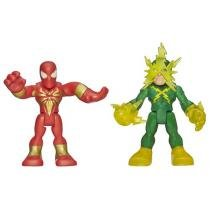 Bonecos Spider-Man e Electro - Marvel Super Hero Adventures