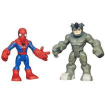 Bonecos Spider-Man e Rhino - Marvel Super Hero Adventures