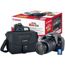 C��mera Digital Canon EOS Rebel T3 12.2MP - Lente EF-S 18-55mm III Cart��o 8GB com Bolsa