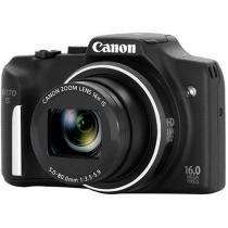"C��mera Digital Canon PowerShot SX170 IS 16MP - LCD 3"" Zoom ��ptico 16x Filma em HD Cart��o 8GB"