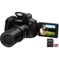 "C��mera Digital Canon PowerShot SX60 HS 16.1MP - LCD 3"" Vari��vel Zoom ��ptico 65x + Cart��o 16GB"