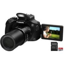"C��mera Digital Canon PowerShot SX60 HS 16.1MP - LCD 3"" Vari��vel Zoom ��ptico 65x + Cart��o 32GB"