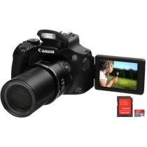 "C��mera Digital Canon PowerShot SX60 HS 16.1MP - LCD 3"" Vari��vel Zoom ��ptico 65x + Cart��o 8GB"