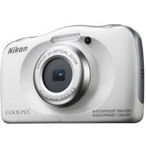 C��mera Digital Nikon Coolpix S33 13.2MP LCD 2.7 - Zoom ��ptico 3x Filma Full HD �� Prova de ��gua