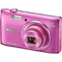"C��mera Digital Nikon Coolpix S5300 16MP - Visor 3"" Zoom ��ptico 8x Panor��mica Filma Full HD"