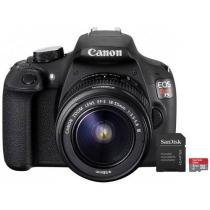 "C��mera Digital SemiProfissional Canon EOS Rebel T5 - 18-55 III 18MP LCD 3"" Zoom ��ptico 3x + Cart��o 32GB"