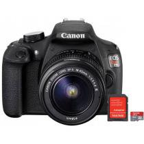 "C��mera Digital SemiProfissional Canon EOS Rebel T5 - 18-55 III 18MP LCD 3"" Zoom ��ptico 3x + Cart��o 8GB"