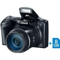 "C��mera Digital SemiProfissional Canon SX400IS - 16.0MP LCD 3"" Zoom ��ptico 30x Cart��o 8GB"