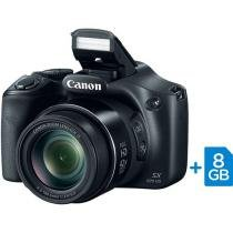 "C��mera Digital SemiProfissional Canon SX520 HS - 16.0MP LCD 3"" Zoom ��ptico 42x Full HD Cart��o 8GB"