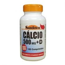 Cálcio + D 500mg 180 Tabletes - Sundown Naturals