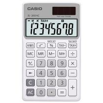 Calculadora de Bolso Casio 8 Dígitos - Colorful SL-300NC Branca