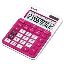 Calculadora de Mesa Casio 12 Dígitos - Colorful MS-20NC Pink e Branca