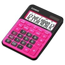 Calculadora de Mesa Casio 12 Dígitos - Colorful MS-20NC Preta e Pink