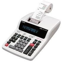 Calculadora de Mesa com Bobina Casio - DR-210TM-WE-B-U-DC