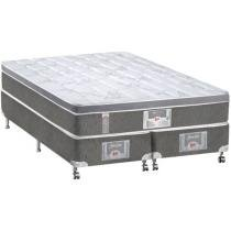 Cama Box (Box + Colchão) King Size Mola 193x203cm - Castor Silver Star 3D Bonnel One face