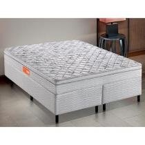 Cama Box Queen Size (Box + Colchão) Inducol - Mola Pocket 64cm de Altura Union