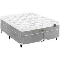 Cama Box Queen Size + (Box + Colchão) King Koil - Mola Pocket 53cm de Altura Lust