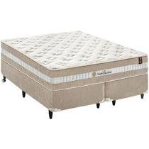 Cama Box Queen Size + (Box + Colchão) King Koil - Mola Pocket 72cm de Altura Satisfaction