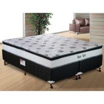 Cama Box Queen size (Box + Colchão) Paropas Mola - 56cm de Altura New York