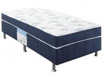 Cama Box Solteiro Conjugado 88x188cm - Ortobom Physical Blue