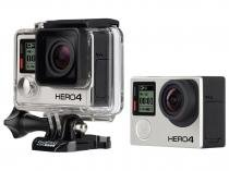 "Câmera Digital GoPro HERO 4 Black 12MP Aquática - Visor 1,5"" Touch Wi-Fi Bluetooth"