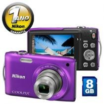 Cmera Digital Nikon Coolpix S3300 16MP LCD 2,7&#34;