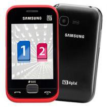 Celular Dual Chip Samsung C3313 Vinho TV Digital