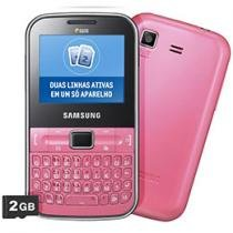 Celular Dual Chip Samsung Punch C3222 Rosa