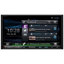 Central Multimídia Kenwood DNN9150BT LCD 6,95 - Entrada para Câmera de Ré USB Bluetooth Auxiliar