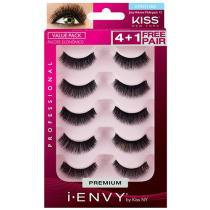 Cílios Postiços Juicy Volume Multi-pack Preto - 5 Pares Kiss NY