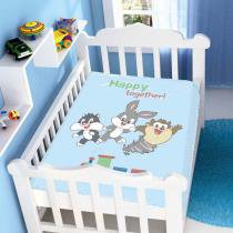 Cobertor de Bebê Looney Tunes Baby Happy Together! - Jolitex -