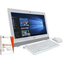 Computador All In One Acer Aspire Z1 - Intel Quad Core 4GB 500GB + Pacote Office 365